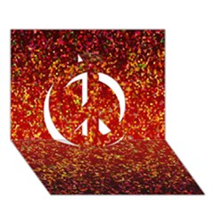 Glitter 3 Peace Sign 3d Greeting Card (7x5)  by MedusArt