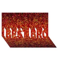 Glitter 3 Best Bro 3d Greeting Card (8x4)  by MedusArt
