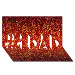 Glitter 3 #1 Dad 3d Greeting Card (8x4)  by MedusArt