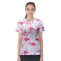 Pink Flamingos Pattern Women s Sport Mesh Tees by Patterns