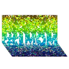 Glitter 4 #1 Mom 3d Greeting Cards (8x4)  by MedusArt