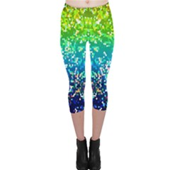 Glitter 4 Capri Leggings by MedusArt