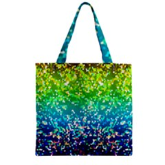 Glitter 4 Zipper Grocery Tote Bags by MedusArt