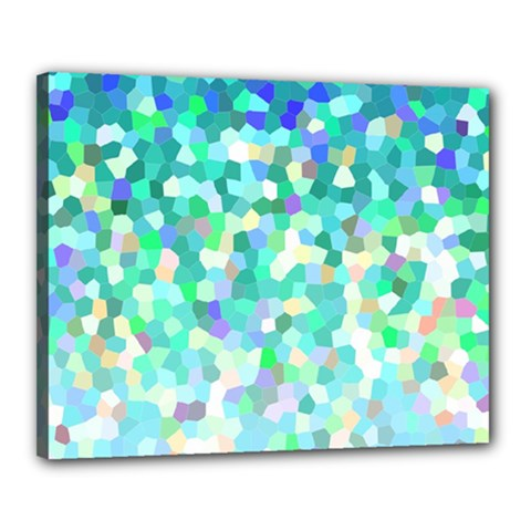 Mosaic Sparkley 1 Canvas 20  X 16  by MedusArt