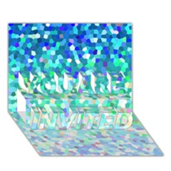 Mosaic Sparkley 1 You Are Invited 3d Greeting Card (7x5)  by MedusArt