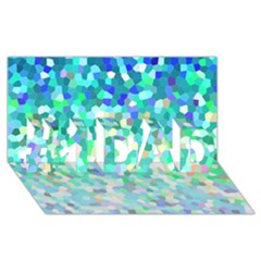 Mosaic Sparkley 1 #1 Dad 3d Greeting Card (8x4)  by MedusArt