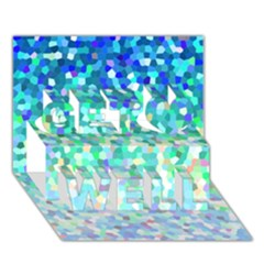 Mosaic Sparkley 1 Get Well 3d Greeting Card (7x5)  by MedusArt