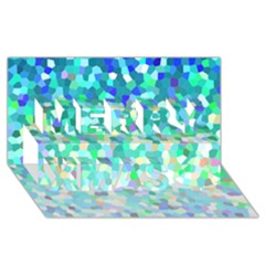 Mosaic Sparkley 1 Merry Xmas 3d Greeting Card (8x4)  by MedusArt