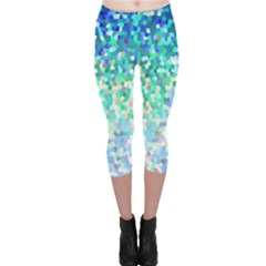 Mosaic Sparkley 1 Capri Leggings by MedusArt
