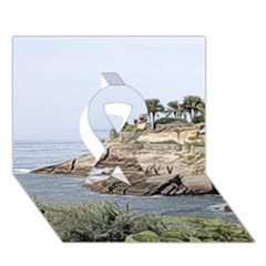Tenerife,painted Version Ribbon 3d Greeting Card (7x5)