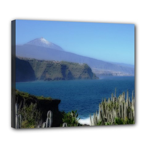Panted Landscape Tenerife Deluxe Canvas 24  X 20   by MoreColorsinLife