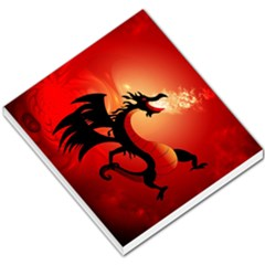 Funny, Cute Dragon With Fire Small Memo Pads by FantasyWorld7