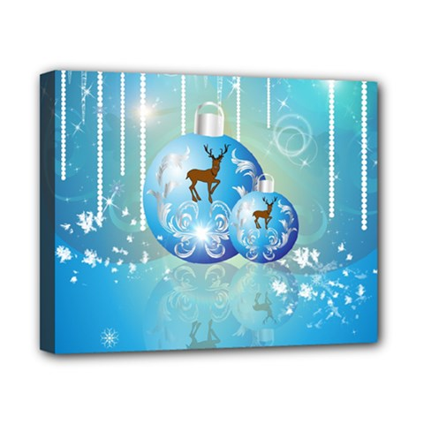 Wonderful Christmas Ball With Reindeer And Snowflakes Canvas 10  X 8  by FantasyWorld7