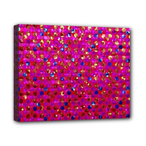 Polka Dot Sparkley Jewels 1 Canvas 10  X 8  by MedusArt