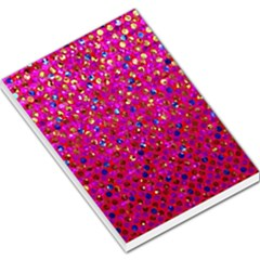 Polka Dot Sparkley Jewels 1 Large Memo Pads by MedusArt