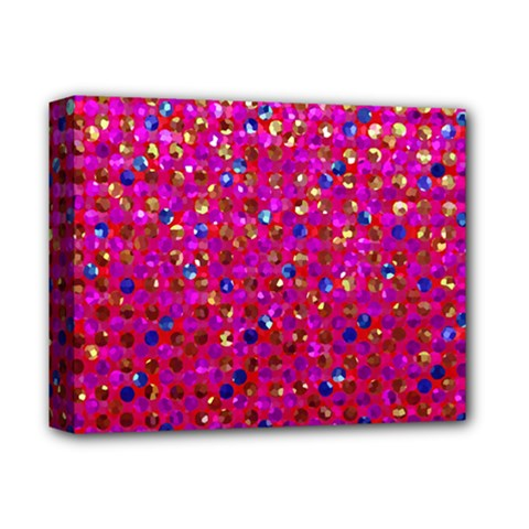 Polka Dot Sparkley Jewels 1 Deluxe Canvas 14  X 11  by MedusArt