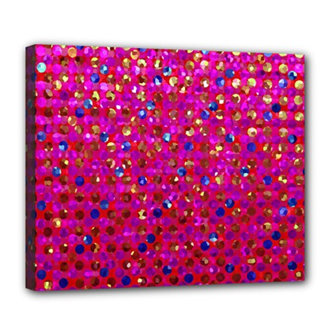 Polka Dot Sparkley Jewels 1 Deluxe Canvas 24  X 20   by MedusArt