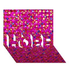 Polka Dot Sparkley Jewels 1 Hope 3d Greeting Card (7x5)  by MedusArt