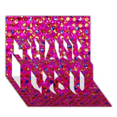Polka Dot Sparkley Jewels 1 Thank You 3d Greeting Card (7x5)  by MedusArt