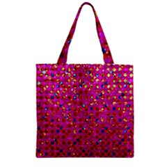 Polka Dot Sparkley Jewels 1 Zipper Grocery Tote Bags by MedusArt