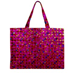 Polka Dot Sparkley Jewels 1 Zipper Tiny Tote Bags by MedusArt