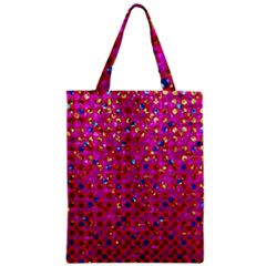 Polka Dot Sparkley Jewels 1 Zipper Classic Tote Bags by MedusArt