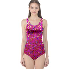 Polka Dot Sparkley Jewels 1 Women s One Piece Swimsuits by MedusArt