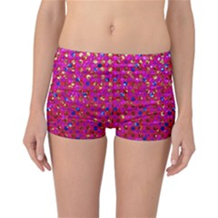 Polka Dot Sparkley Jewels 1 Reversible Boyleg Bikini Bottoms by MedusArt