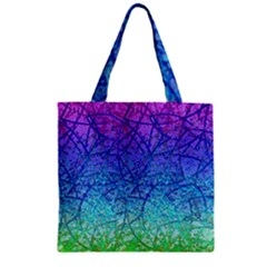 Grunge Art Abstract G57 Zipper Grocery Tote Bags by MedusArt