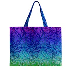 Grunge Art Abstract G57 Zipper Tiny Tote Bags by MedusArt