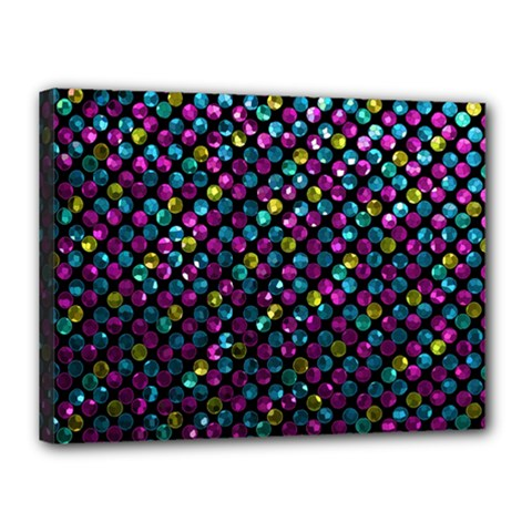 Polka Dot Sparkley Jewels 2 Canvas 16  X 12  by MedusArt