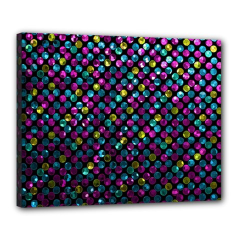 Polka Dot Sparkley Jewels 2 Canvas 20  X 16  by MedusArt