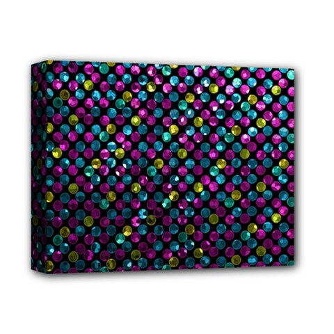 Polka Dot Sparkley Jewels 2 Deluxe Canvas 14  X 11  by MedusArt