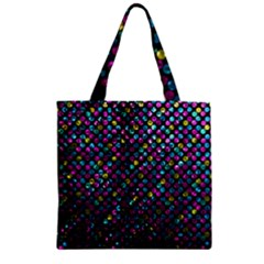 Polka Dot Sparkley Jewels 2 Zipper Grocery Tote Bags by MedusArt