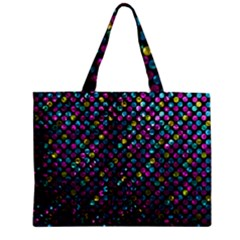 Polka Dot Sparkley Jewels 2 Zipper Tiny Tote Bags by MedusArt
