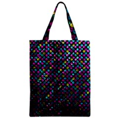 Polka Dot Sparkley Jewels 2 Zipper Classic Tote Bags by MedusArt