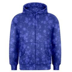 Snow Stars Blue Men s Zipper Hoodies