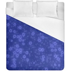 Snow Stars Blue Duvet Cover Single Side (double Size)