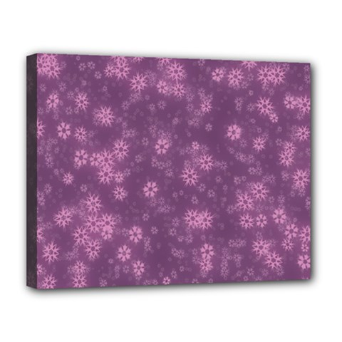 Snow Stars Lilac Canvas 14  X 11  by ImpressiveMoments