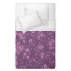 Snow Stars Lilac Duvet Cover Single Side (single Size) by ImpressiveMoments