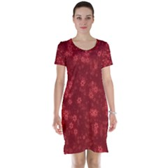 Snow Stars Red Short Sleeve Nightdresses