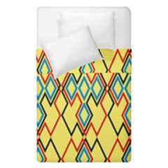 Shapes On A Yellow Background  Duvet Cover (single Size)
