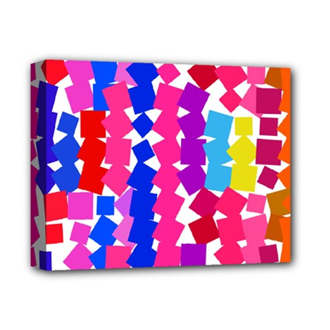 Colorful Squares Deluxe Canvas 14  X 11  (stretched) by LalyLauraFLM