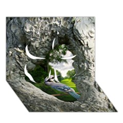 Bird In The Tree 2 Clover 3d Greeting Card (7x5)