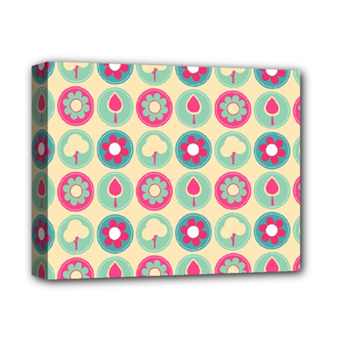 Chic Floral Pattern Deluxe Canvas 14  X 11  by creativemom