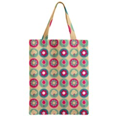 Chic Floral Pattern Zipper Classic Tote Bags by creativemom