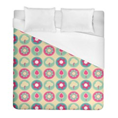 Chic Floral Pattern Duvet Cover Single Side (twin Size)