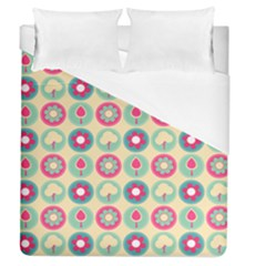 Chic Floral Pattern Duvet Cover Single Side (full/queen Size) by creativemom