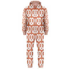 Salmon Pretzel Illustrations Pattern Hooded Jumpsuit (men)  by creativemom