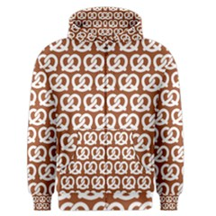 Brown Pretzel Illustrations Pattern Men s Zipper Hoodies by creativemom